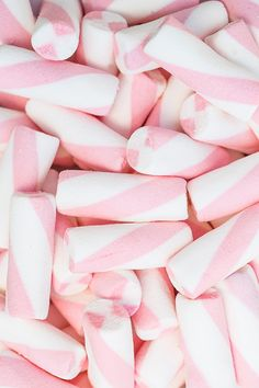 Pink and White spiraled marshmallows