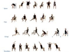 Yoga chair yoga fitness on pinterest chair yoga chair exercises - 1000 Images About Stretching On Pinterest Stretching