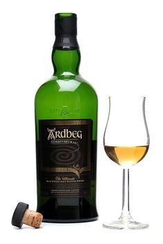 A glass of Ardbeg