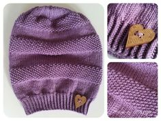 Knitted hat - Klompelompe boken String Crafts, String Art, Knitted Hats, Winter Hats, Beanie, Knitting, Barn, Crochet, How To Make
