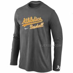 http://www.xjersey.com/oakland-athletics-long-sleeve-tshirt-dgrey.html Only$30.00 OAKLAND ATHLETICS LONG SLEEVE T-SHIRT D.GREY Free Shipping!
