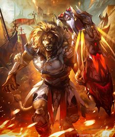 Ironfist Beast Warrior (evolved) by kazashino on DeviantArt Fantasy Creatures, Mythical Creatures, Dark Fantasy, Fantasy Art, Character Inspiration, Character Art, Lion Photography, Lion Wallpaper, Mtg Art