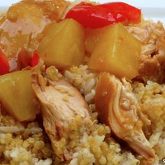 Our Slow Cooker Polynesian Chicken is a healthy spin on a favorite chicken and rice dish served at restaurants. Keep it clean with this juicy recipe. Slow Cooker Bbq, Slow Cooker Chicken, Slow Cooker Recipes, Crockpot Recipes, Chicken Recipes, Cooking Recipes, Healthy Recipes, Slow Cooking, Veggie Lettuce Wraps
