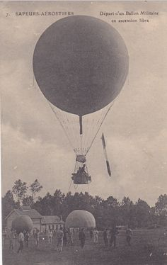 WW1, French observation balloon                                                                                                                                                                                 More