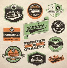 Retro label design vector | Download free Vector. #vectors Vintage Labels #design  www.november.media