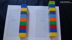 Autismus Arbeitsmaterial: Lego-Karten: Zahlen