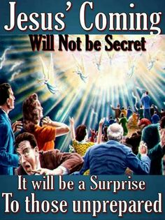 This is NOT a picture of the Rapture, when true believers will meet Jesus in the air; it is a depiction of the Second Coming of Jesus, when every eye will see Him. Like the Rapture, it too will be a surprise to those unprepared. King Jesus, Jesus Is Lord, Christian Memes, Christian Faith, Christian Church, Bible Verses Quotes, Bible Scriptures, Jesus Second Coming, Bride Of Christ