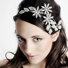 Brooch headband - this would make a beautiful piece for a veil