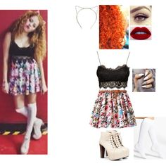 Mahogany LOX Inspired Outfit #9 by nikkie-fen on Polyvore featuring mode, Club L, Nordstrom and Speed Limit 98