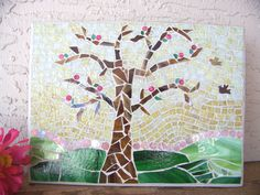 Stained Glass Mosaic Art - Tree of Life Wall Art - Mosaic Tree Wall Hanging - Home Decor - Girls Room Art