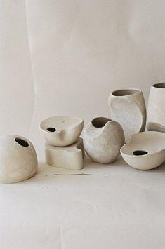 Sculptural ceramics by Bikis Ceramics – Ceramic Art, Ceramic Pottery Japanese Ceramics, Japanese Pottery, Modern Ceramics, White Ceramics, Pottery Sculpture, Pottery Vase, Ceramic Pottery, Thrown Pottery, Slab Pottery