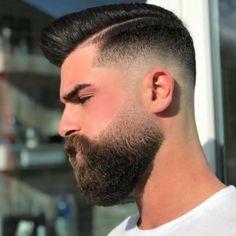 Medium Beard Styles, Long Beard Styles, Hair And Beard Styles, Short Hair Styles, Cool Haircuts, Hairstyles Haircuts, Haircuts For Men, Beard Haircut, Fade Haircut
