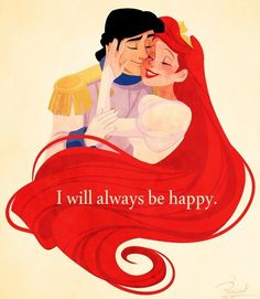 Image via We Heart It https://weheartit.com/entry/151855719 #ariel #couple #disney #princesa #erick #sirenita