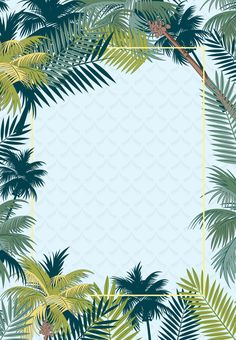 simple tropical rainforest plant summer promotion poster psd - All About