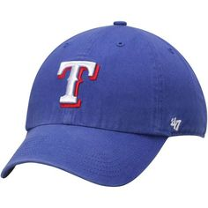 750a5628a2f Texas Rangers  47 Brand Royal Basic Logo Clean Up Game Adjustable Dad Hat