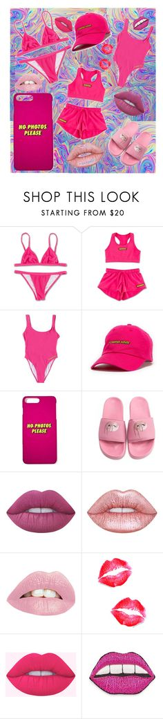 """Pink"" by lulove777 ❤ liked on Polyvore featuring Lime Crime and Happy Embellishments"