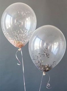 Ideas for party balloons diy new years eve New Years Eve 2017, New Years Eve Day, Glitter Balloons, Confetti Balloons, Latex Balloons, Pink Glitter, Clear Balloons, Glitter Confetti, New Years Wedding