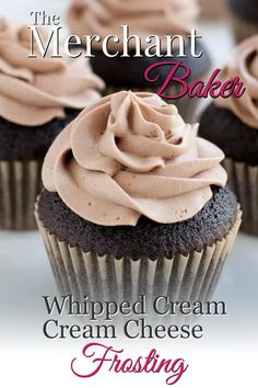 A combination of two favorites, now in chocolate! Wonderfully mellow, creamy and not too sweet! Best Chocolate Icing, Whipped Chocolate Frosting, Chocolate Cream Cheese, Custard Recipes, Almond Recipes, Cinnamon Recipes, Banana Recipes, Cookie Frosting, Cream Cheese Frosting