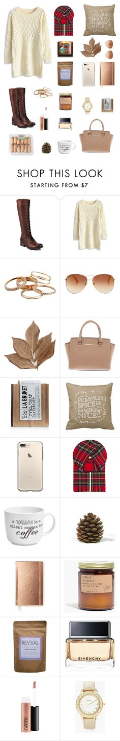 """""""Autumn"""" by cweyk ❤ liked on Polyvore featuring Frye, Chicwish, Kendra Scott, Tommy Hilfiger, Bliss Studio, Michael Kors, L:A Bruket, Johnstons, Pfaltzgraff and Kate Spade"""