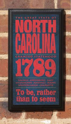 The State North Carolina Vintage Style Wall Plaque by CrestField, $27.00