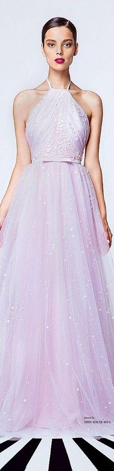 Georges Hobeika Spring Summer 2015 ♔ Lavender Gown...