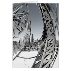 Chicago Steel Card #cards #christmascard #holiday