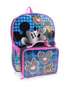 843ffb0b0a98f Disney Kid s Mickey and Minnie 16-Inch Backpack with Lunch Kit
