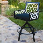 Found it at AllModern - Parkview Cast Swivel Barstool with Cushion