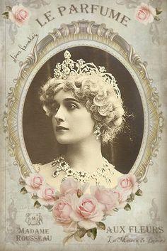 Lina Cavalieri digital collage p1022 Free to use