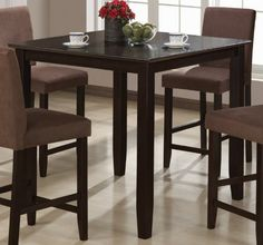 Counter Height Dining Table Cappuccino Finish - http://www.furniturendecor.com/counter-height-dining-table-cappuccino-finish/ - Dining Room Furniture, Dining Tables, Furniture, Home and Kitchen