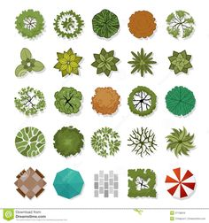 plant models for landscaping plans - Buscar con Google