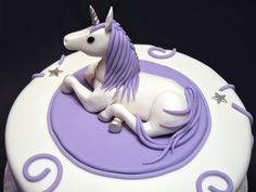 """Cake for an adult who loves unicorns. 10"""" cake, topper..."""
