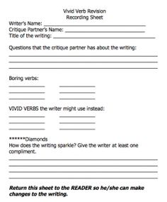 Worksheet Vivid Verbs Worksheet some examples of vivid verbs reading pinterest revision