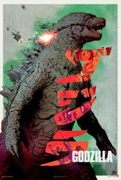 yalnız fok balığı: Godzilla (2014) Posterleri