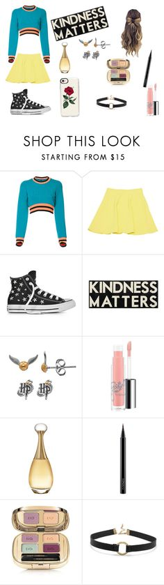 """""""kindness maters"""" by pretty-x-9698 on Polyvore featuring Versus, Ermanno Scervino, Converse, Primitives By Kathy, MAC Cosmetics, Christian Dior, Dolce&Gabbana, BillyTheTree and Casetify"""