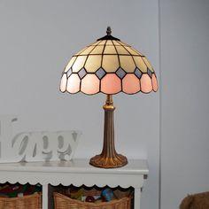Lámpara de mesa Pink Tiffany