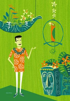 A great Shag painting created by the artist for the 40th anniversary of The Enchanted Tiki Room at Disneyland. The Tiki Room is one of my top 5 attractions at Disneyland and Shag is a true God of Tiki. #shag #tiki art #disney