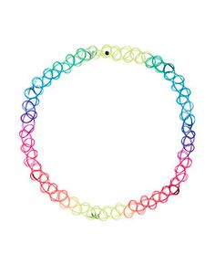Bring back the '90s with this neon tattoo choker necklace. We'll be rockin' ours at this year's parties, festivals and holidays.