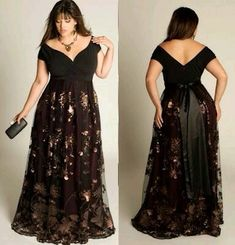 Black Long Lacey Dress