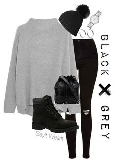 """""""Unnamed #38"""" by sayitwearit ❤ liked on Polyvore featuring Topshop, Vince, Black, Timberland, Proenza Schouler, Marc by Marc Jacobs and Sophie Buhai"""