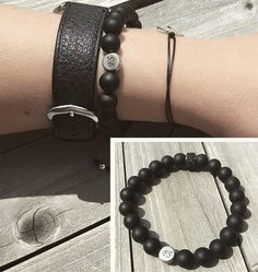 Klein aber fein! Eine kleine schlichte Initialengravur macht dein Armband ganz persönlich und zu etwas Besonderem! #schmuck #fashion #jewelry #forhim #forher #gravur #bracelet #onyx #black #cowstyle #styria #graz #austria #armband #acessoires #mode #picoftheday #photooftheday #instagood #instalike