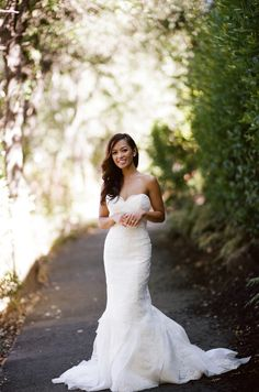 Wedding Gown by Marisa | Lauri Levenfeld - Zoom Photography | See the wedding on SMP: http://www.StyleMePretty.com/california-weddings/yountville/2014/01/13/napa-valley-wedding-at-the-vintage-estate/