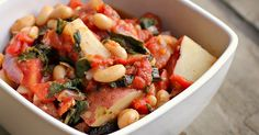 Italian White Bean, Kale and Potato Stew #recipe