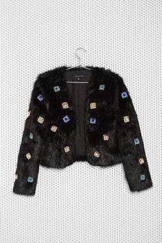 Night Dazzler Faux Fur Jacket   Shop Clothes at Nasty Gal