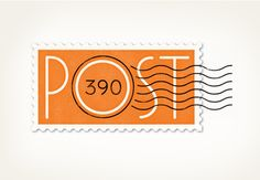 Post 390 is a restaurant in Boston, built on the site of a former post office. Logo by Louise Fili Ltd.