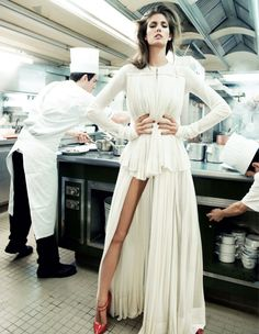 NEW MENU (COUTURE): KENDRA SPEARS BY CLAUDIA KNOEPFEL & STEFAN INDLEKOFER FOR VOGUE RUSSIA APRIL 2013