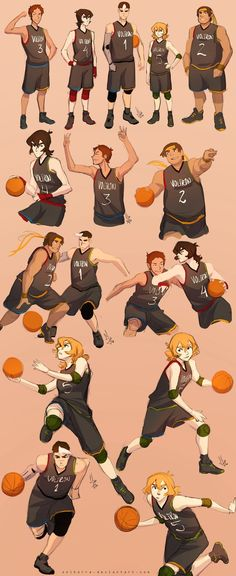 Team Voltron x Basketball by SolKorra.deviantart.com on @DeviantArt