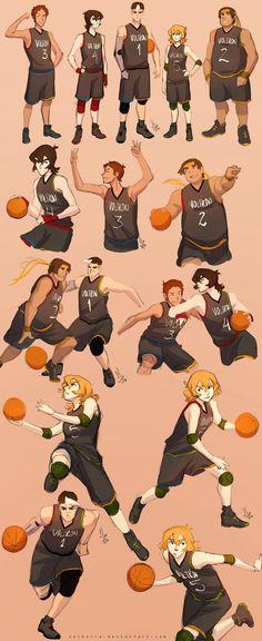 Team Voltron x Basketball by SolKorra on DeviantArt
