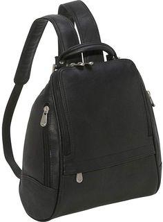 Le Donne Leather Backpack or Purse - U-Zip MidSize. Táskák HátizsákokFeketeKézitáskák 134ad64dc3