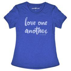 Love Blue Grace & Truth Womens T-Shirt - XL / Blue Heather